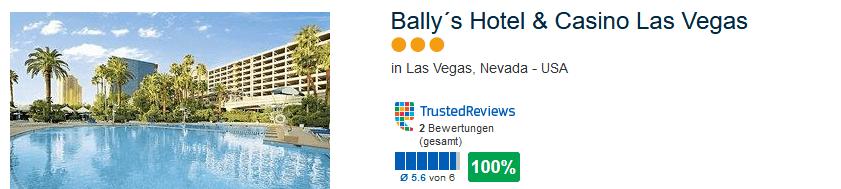 Ballys Hotel & Casino 100% positive Bewertung