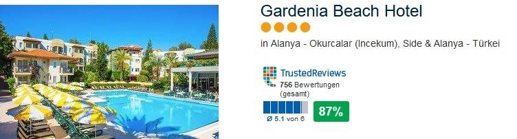 Gardenia Beach Hotel 4 Sterne Alles Inklusive in Alanya Incekum