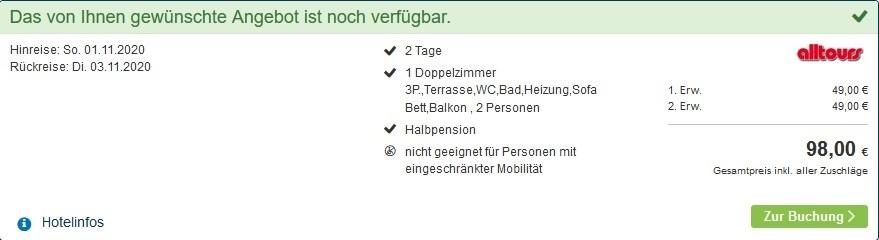Screenshot Deal für 2 Nächte Henkenhagen Ostsee - Polen Urlaub mit Halbpension ab 24,50€