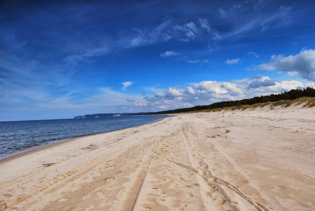 Polens Küste beträgt mehr als 500 Kilometer weißen Sandstrand
