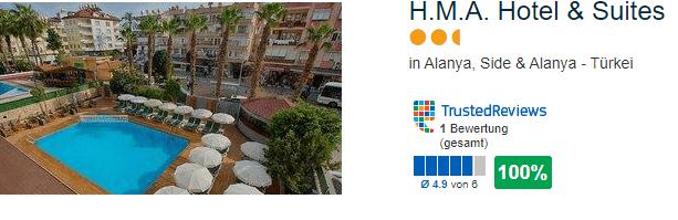 HMA Hotel & Suites Alanya Türkei Urlaub 2021