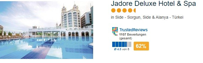 Jadore Deluxe Hotel & Spa 4,5 Sterne Urlaub All Inklusive mit Anextour