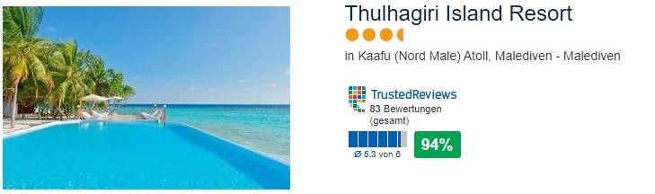 Thulhagiri Island Resort in Kaafu Nord Male Atoll Landeskategorie 4 Sterne