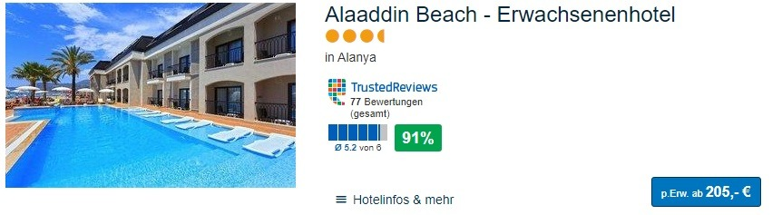 Türkei Urlaub Alltours eine Woche Luxus ab 205,00€